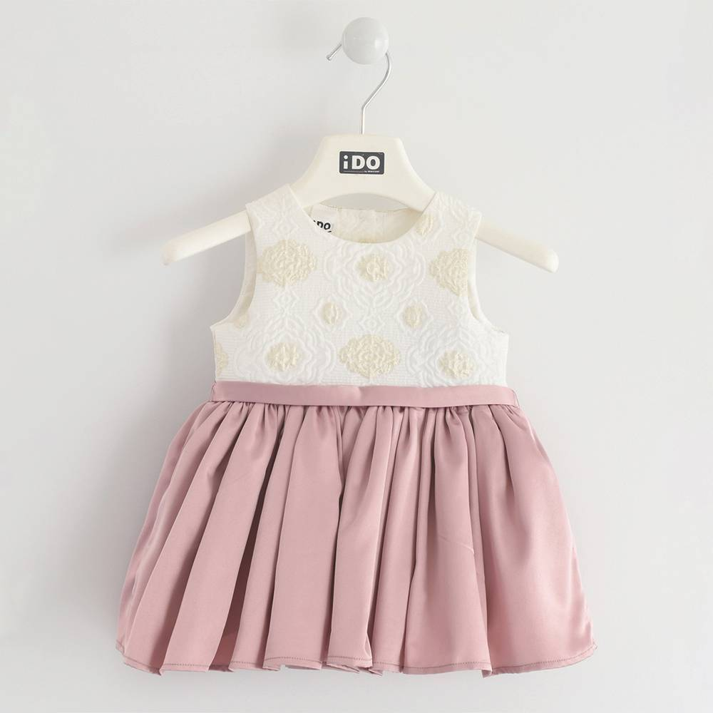 Платье для девочки iDO нарядное без рукава на подкладке 4.K416.00/8146