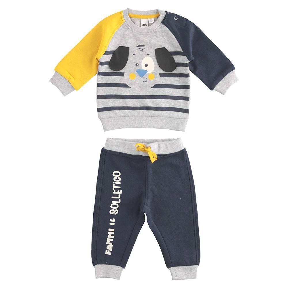 Комплект для мальчика iDO спортивный реглан штаны на манжете 4.K204.00/3885