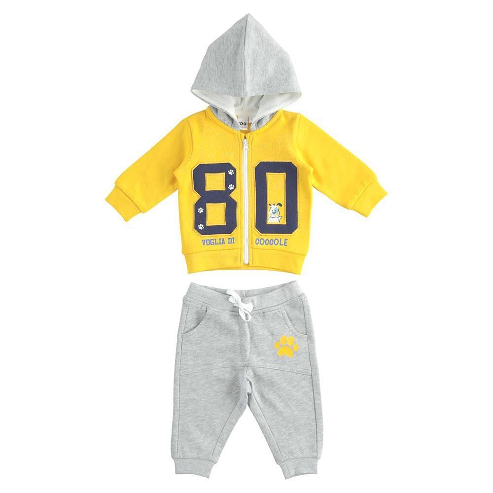 Комплект детский iDO спортивный пайта с капюшоном штаны хлопок трикотаж 4.K205.00/8084
