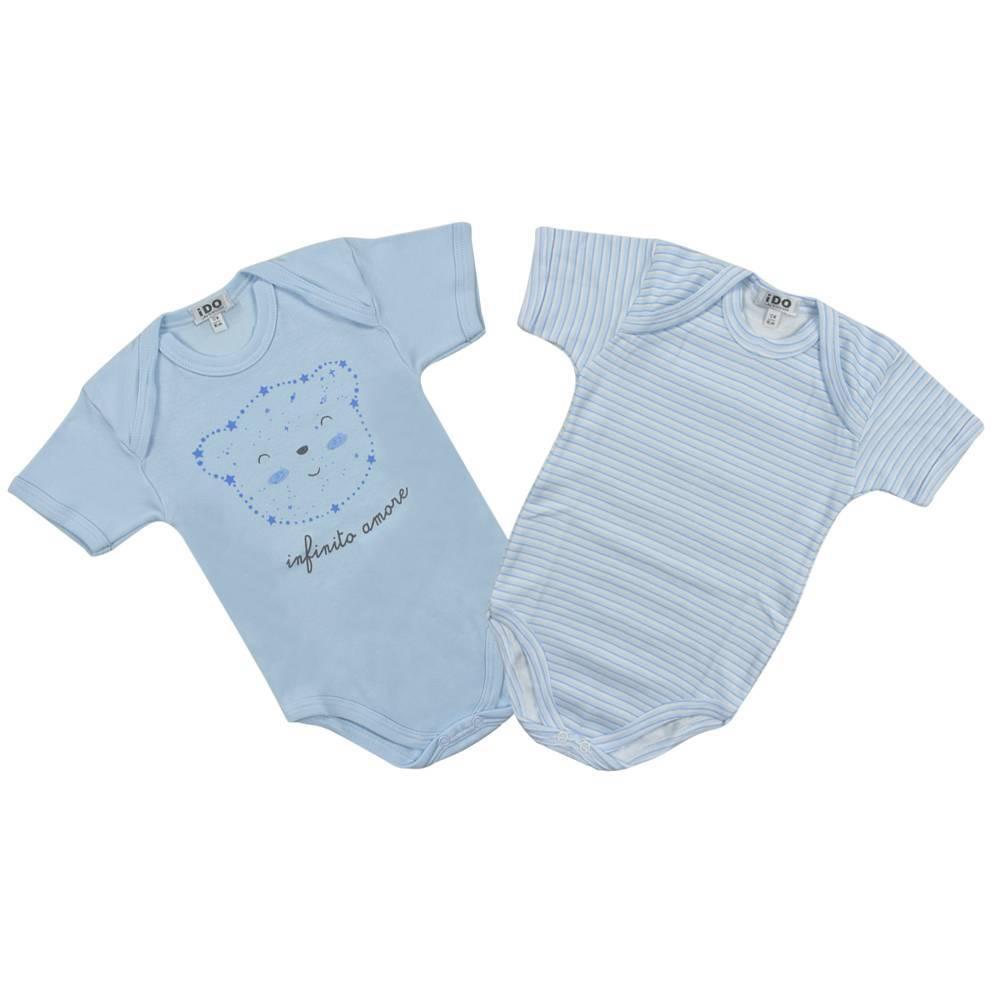 Боди комплект для мальчика iDO летний короткий рукав хлопок трикотаж 4.K014.00/5818