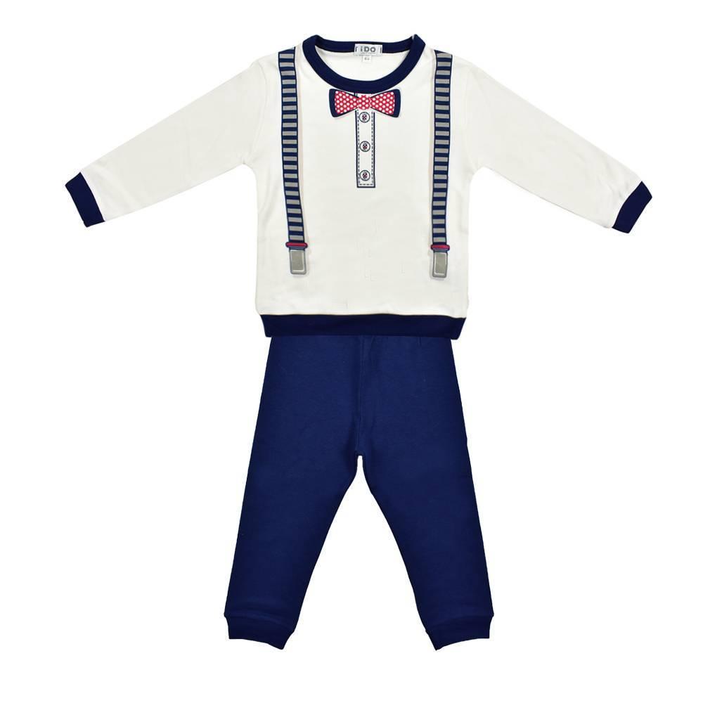 Пижама для мальчика iDO теплая хлопок трикотаж принт 4.K018.00/8020
