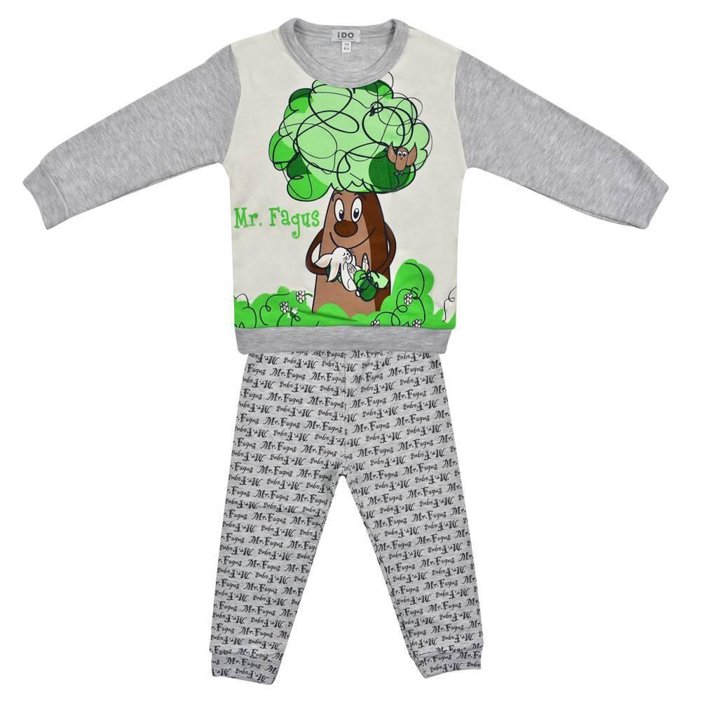 Пижама для мальчика iDO демисезонная трикотаж хлопок принт 4.K021.00/0513