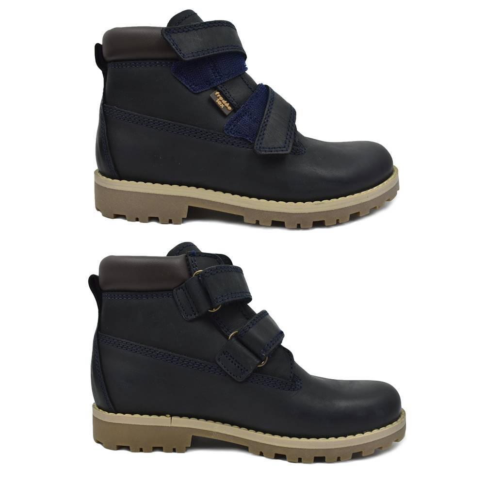 Ботинки детские Froddo зимние натуральная кожа липучки G3110137-Km/DarkBlue
