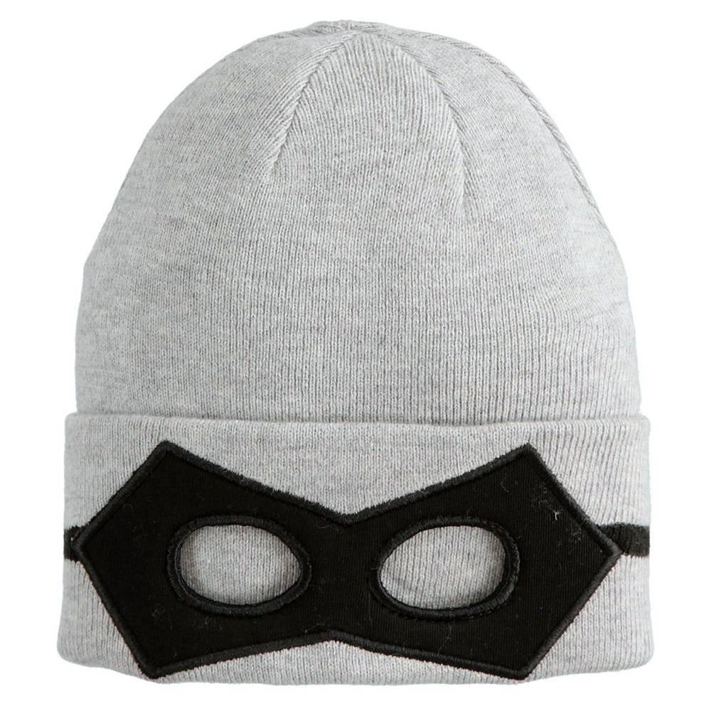 Шапка для мальчика iDO демисезонная вязанная аппликация маски 4.K161.71/8992