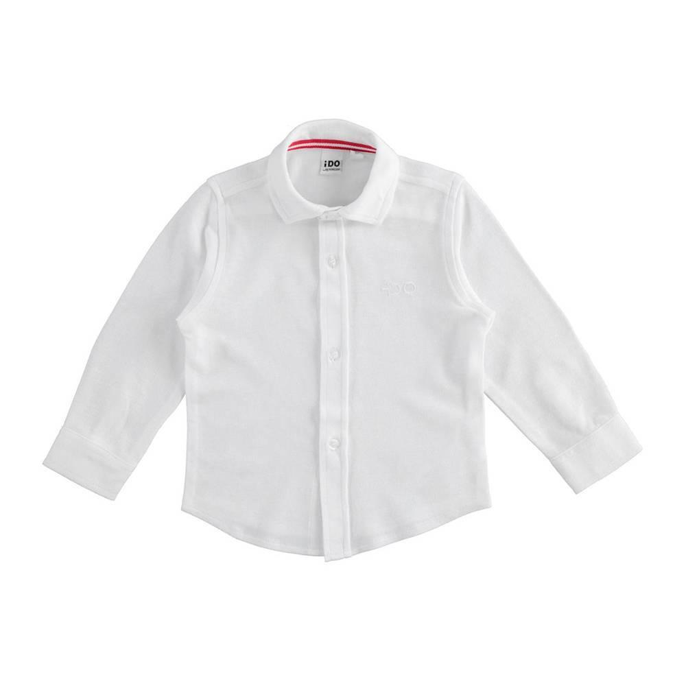 Рубашка для мальчика iDO хлопок пике трикотажная классическая длинній рукав 4.K513.00/0113