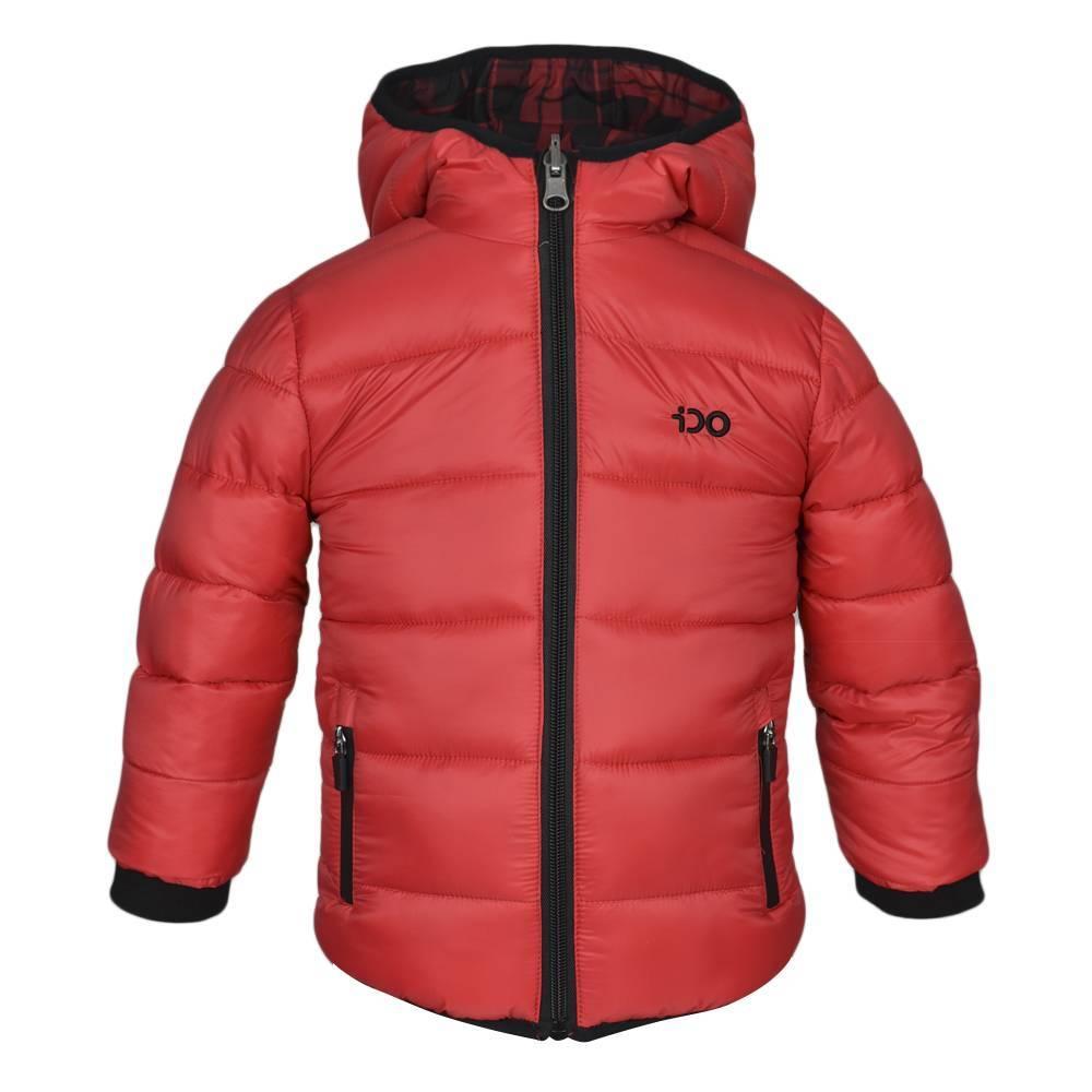 Куртка для мальчика iDO демисезонная двухсторонняя с капюшоном 4.K591.00/2253