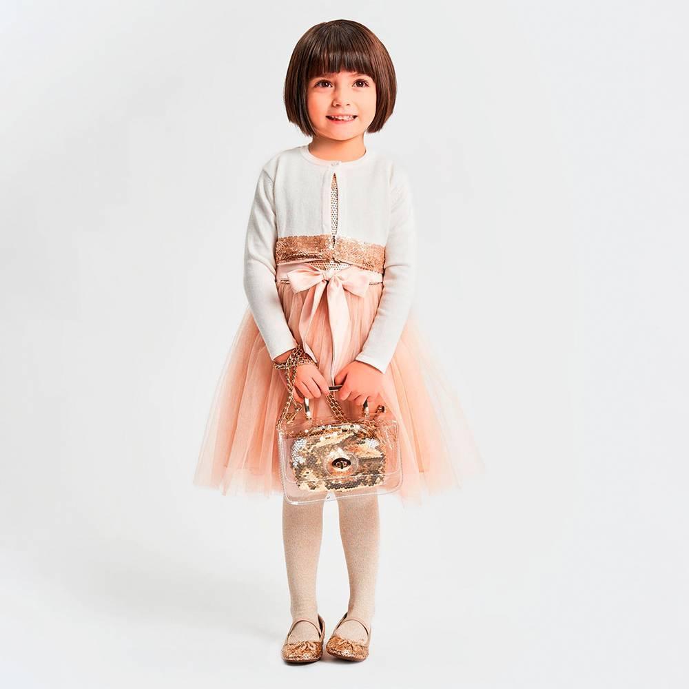 Платье для девочки iDO нарядное без рукава пайетки 4.K669.00 / 8138