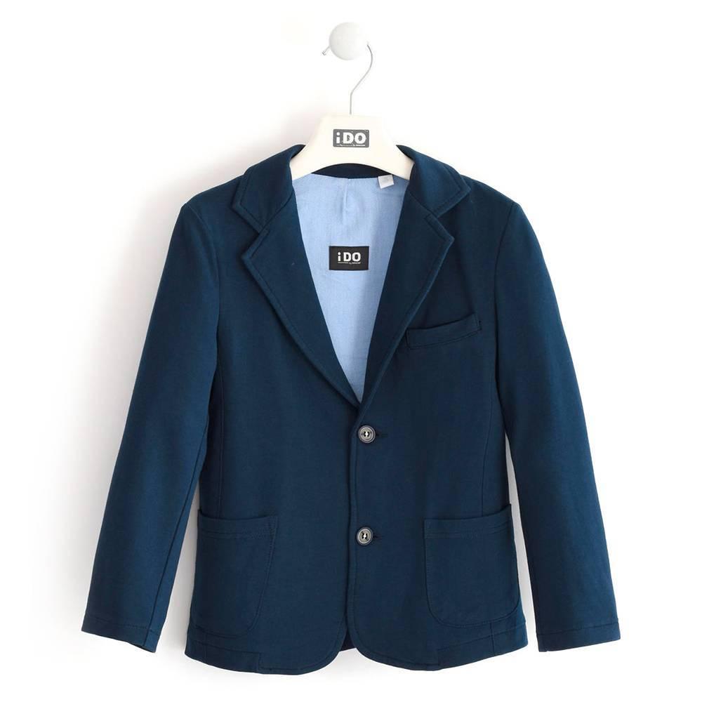Пиджак для мальчика iDO подросток классический трикотажный 4.K802.00/3885