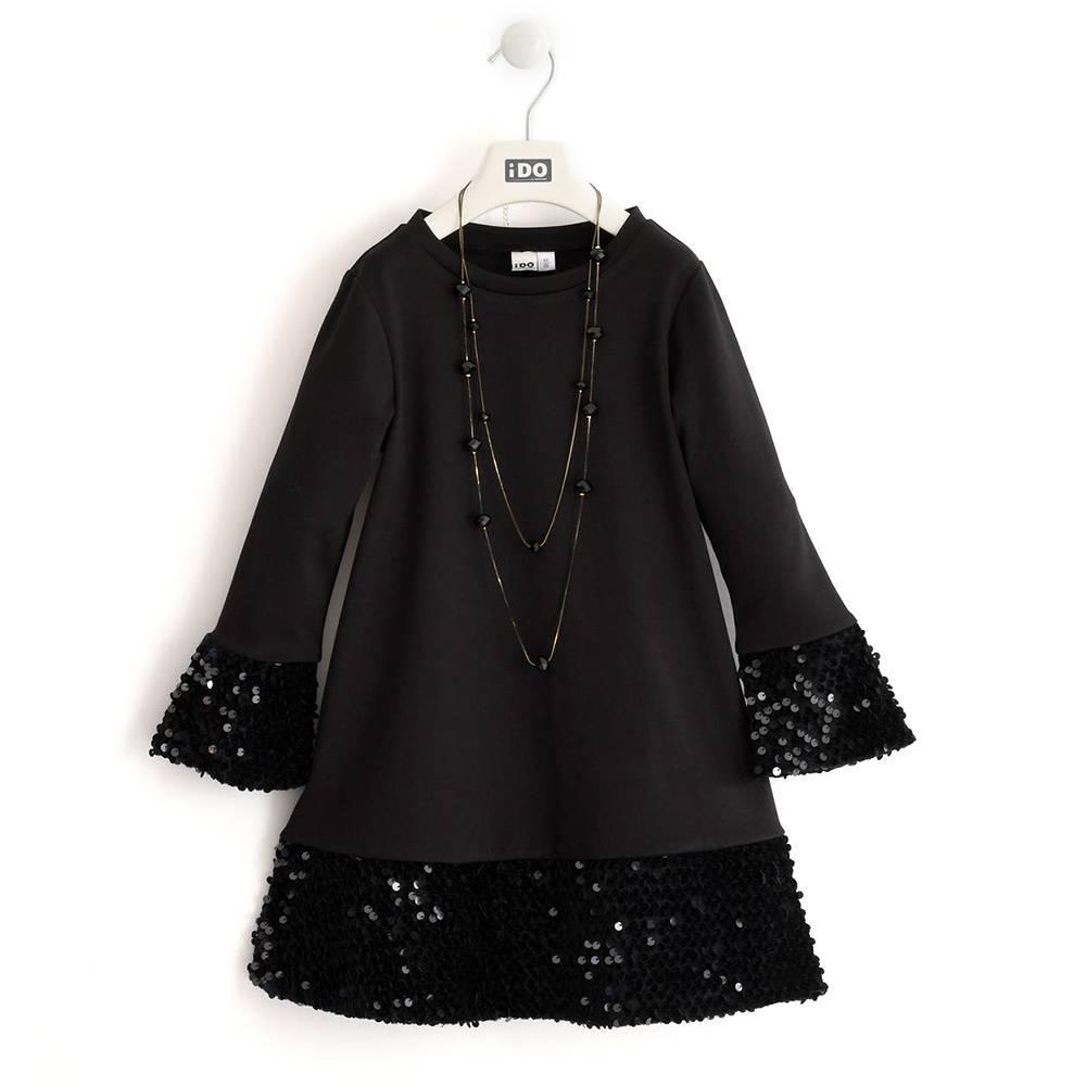 Платье для девочки подростка длиный рукав iDO длиный рукав бусы пайетки 4.K998.00/0658