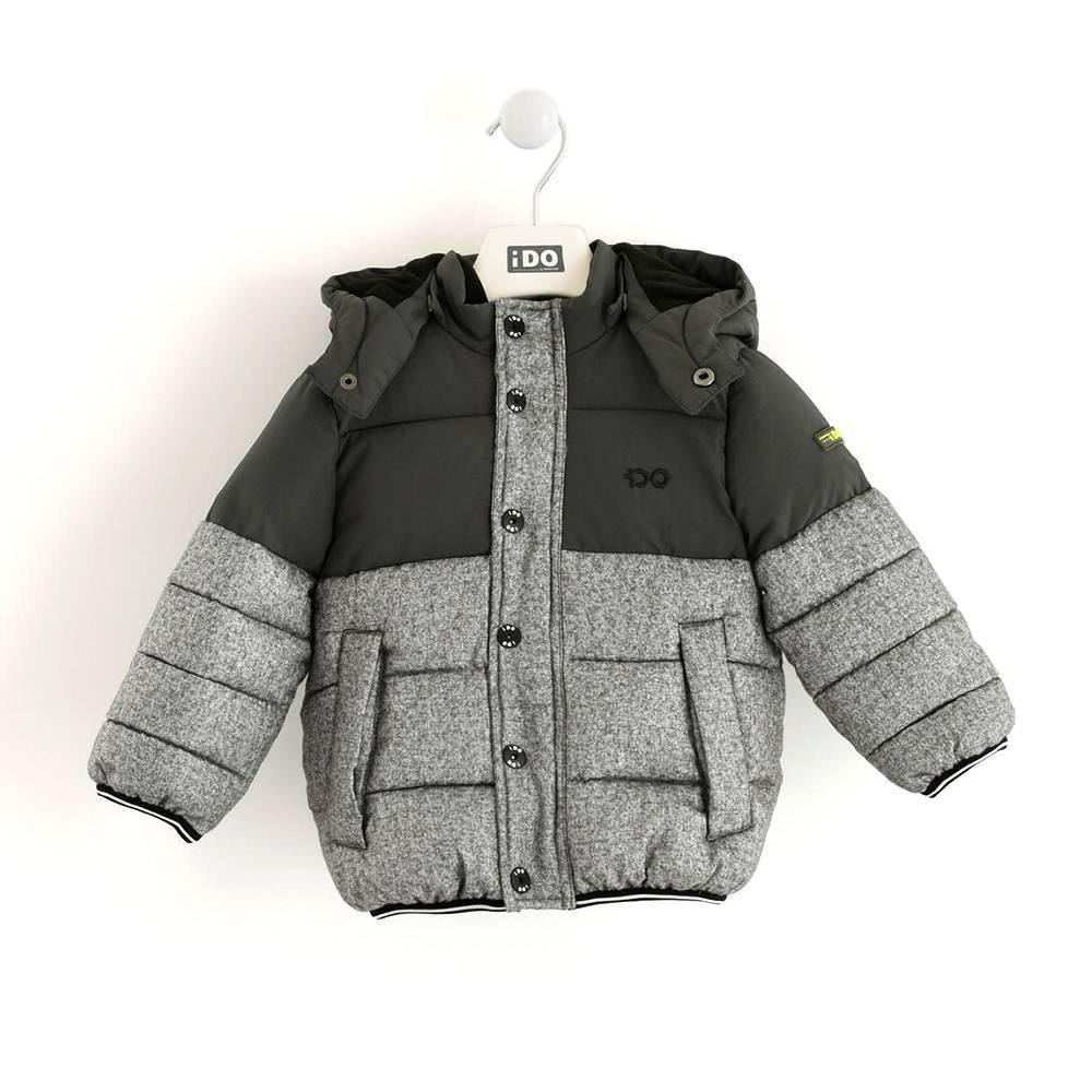 Куртка для мальчика iDO демисезоннвя двухцветная капюшон 4.K595.00/6LE7