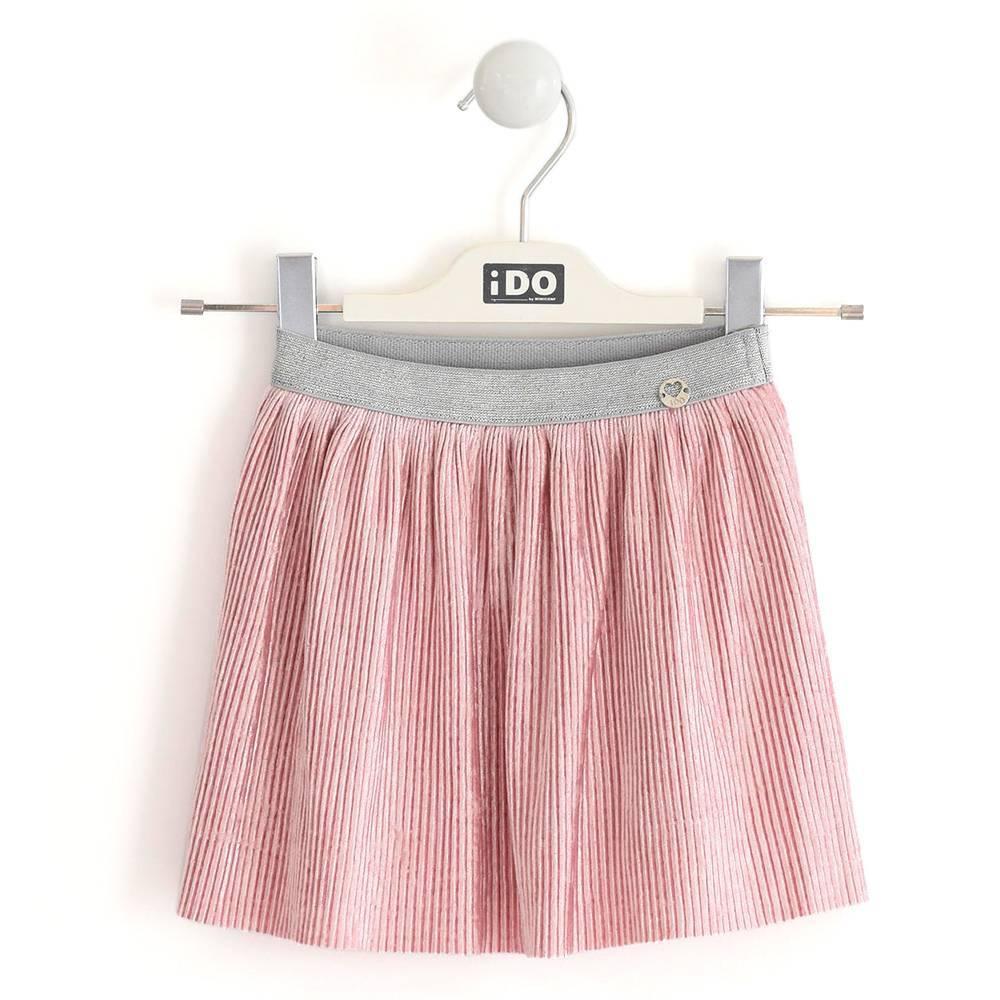 Юбка для девочки iDO велюр плиссе розовый 4.K663.00/2715