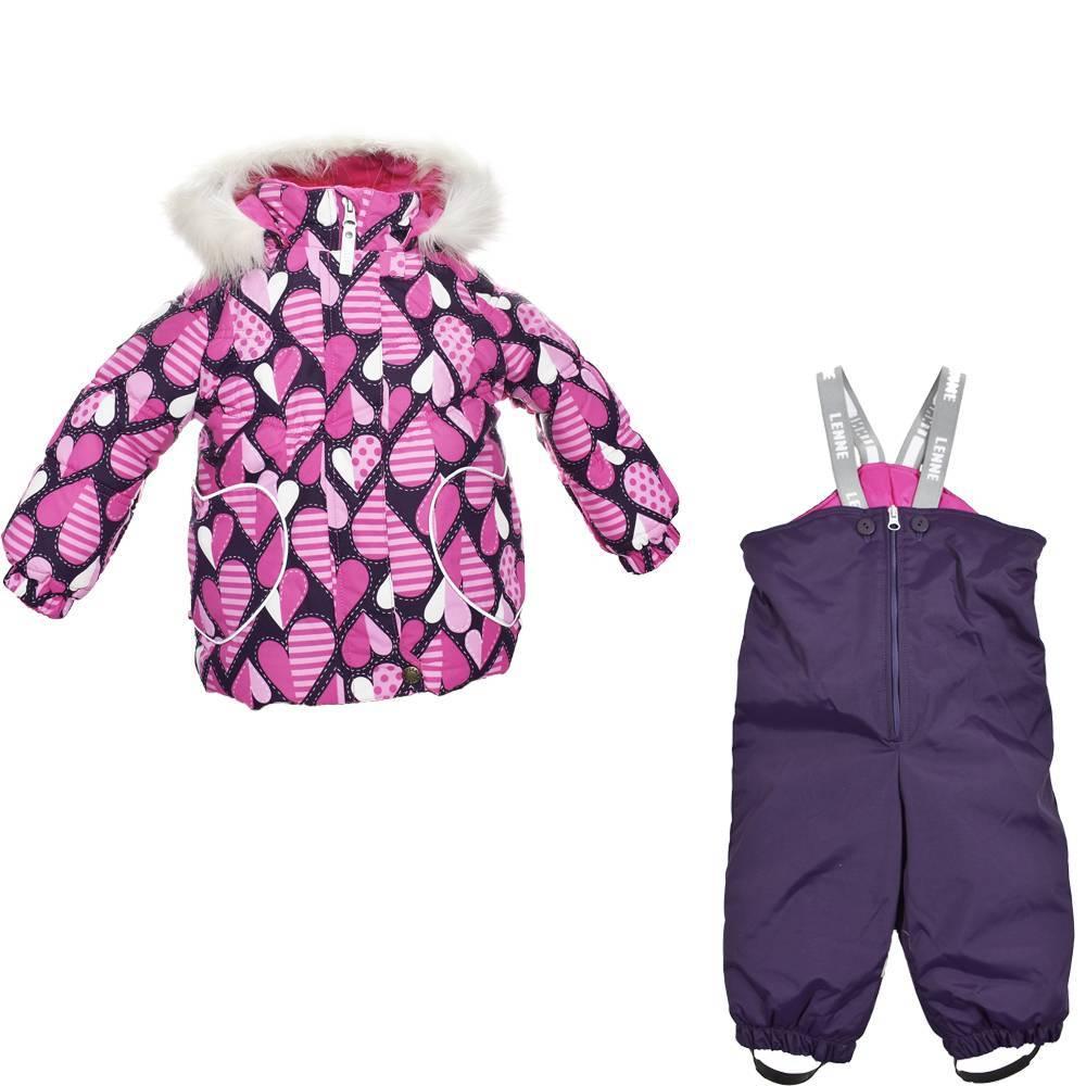 Комплект для девочки LENNE ELSA зимний куртка полукомбинезон