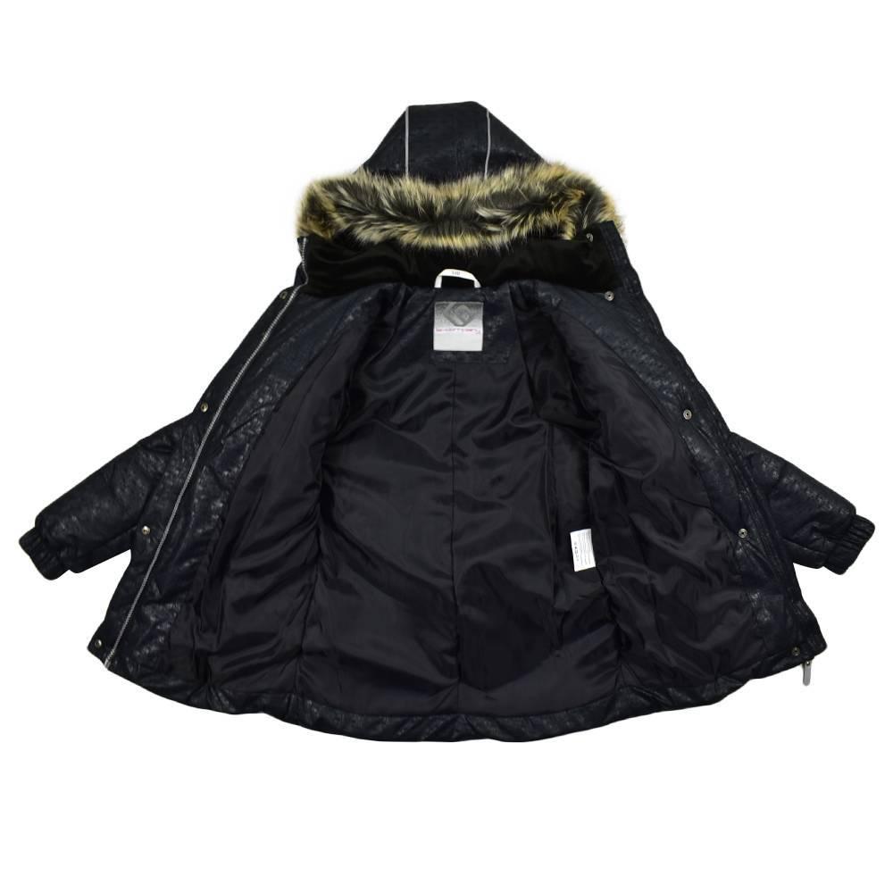 Куртка для девочки CLARA LENNE зимняя приталенная с капюшоном 17360