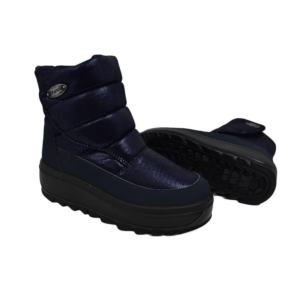 Ботинки для девочки «Skandia» зимние на липучке12165DR/TuonoExtralux_Navy