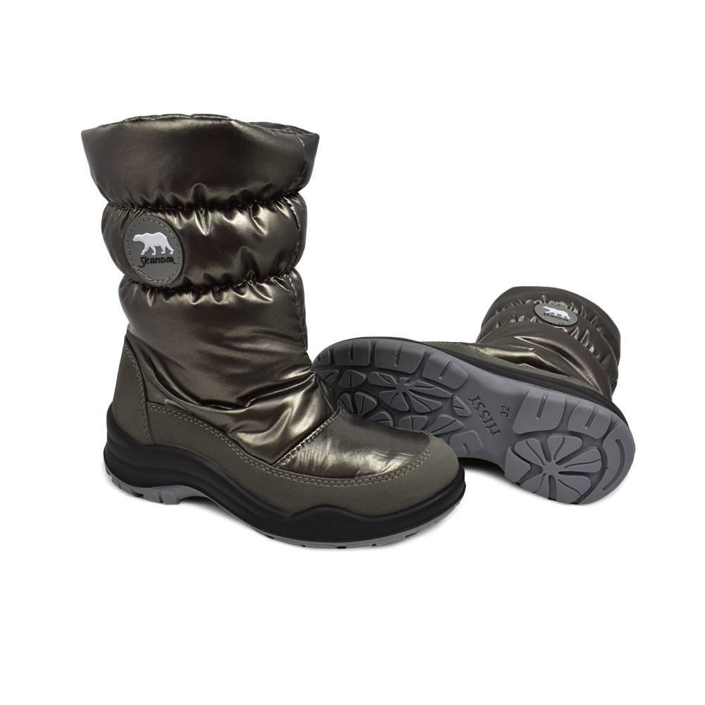 Ботинки для девочки «Skandia» зимние молния 1596R/TuonoBalt_TaupePewt