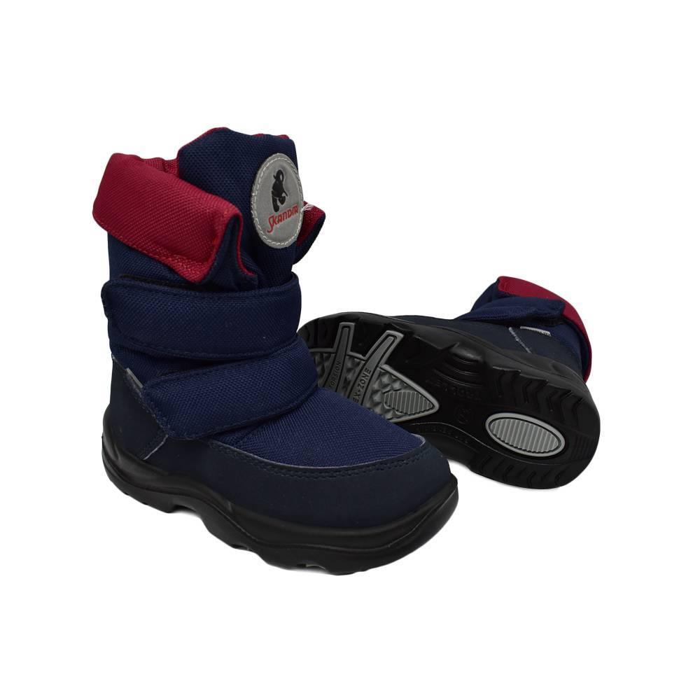 Ботинки для мальчика «Skandia» зимние на липучке 8435R/TuonoAmar_Navy