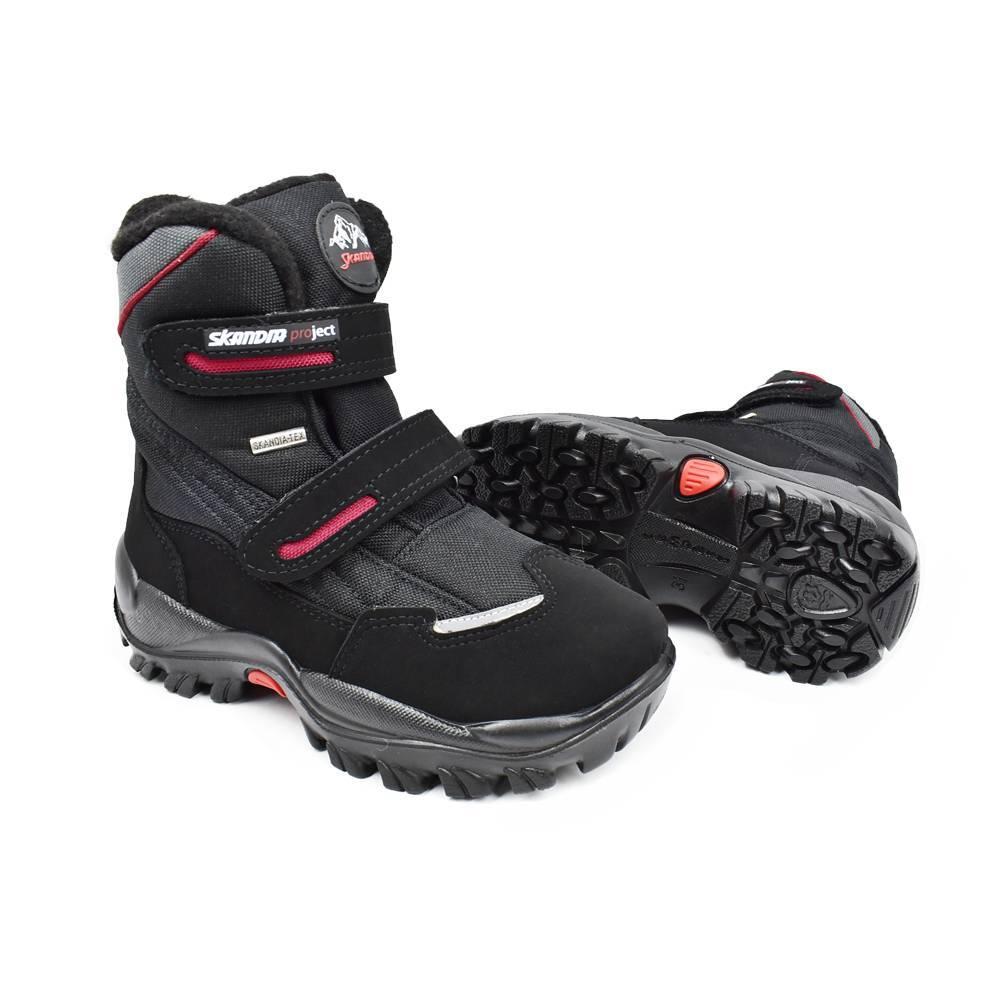 Ботинки для мальчика «Skandia» зимние на липучке 9310R/TuonoAmar_BlkBlk