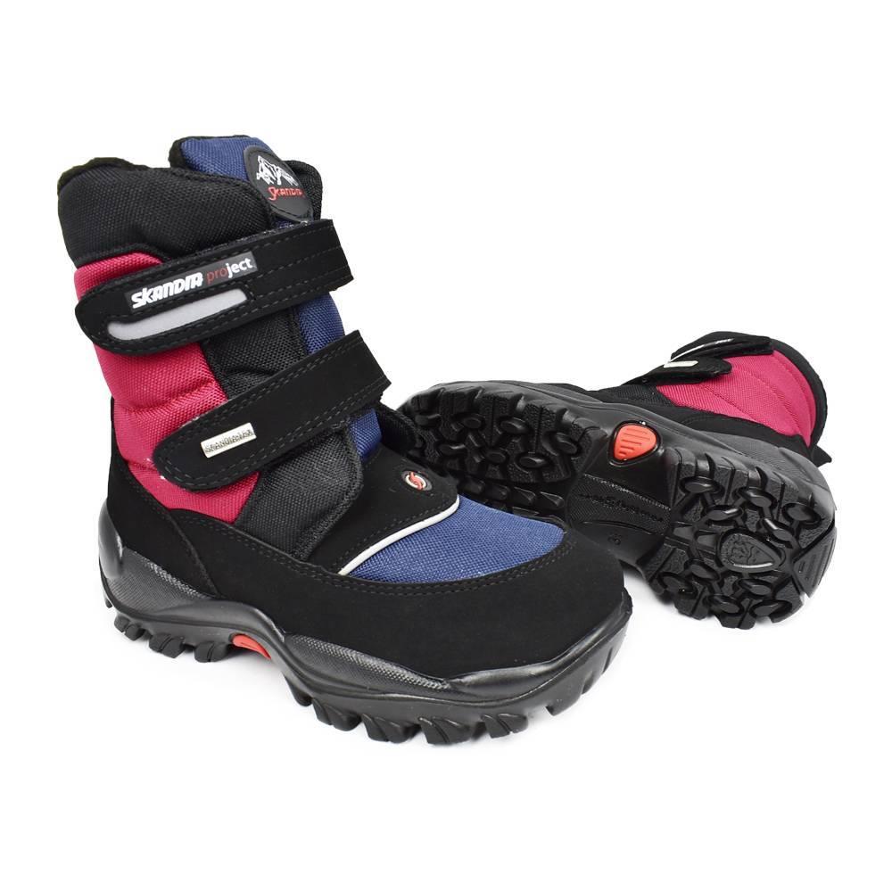 Ботинки для мальчика «Skandia» зимние на липучке 9311R/TuonoAmarc_BlkBlue