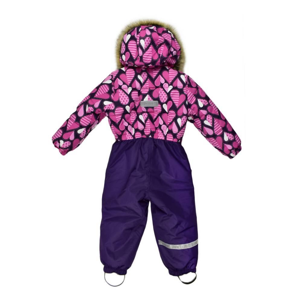 Комбинезон для девочки LENNE зимний цельный капюшон и опушка съемные COLD