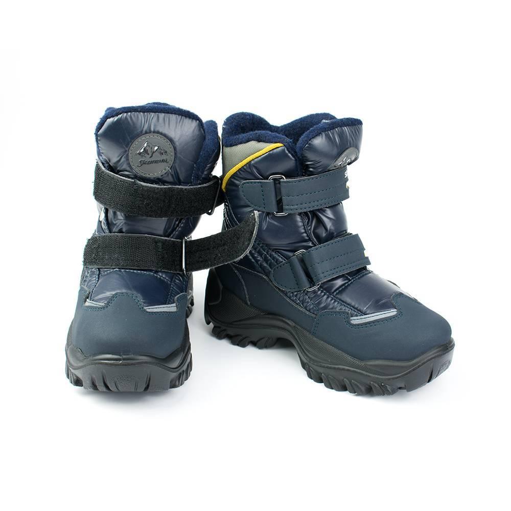 Ботинки для мальчика «Skandia» зимние на липучке 9310R/TuoBaltiTecn_NavyGr