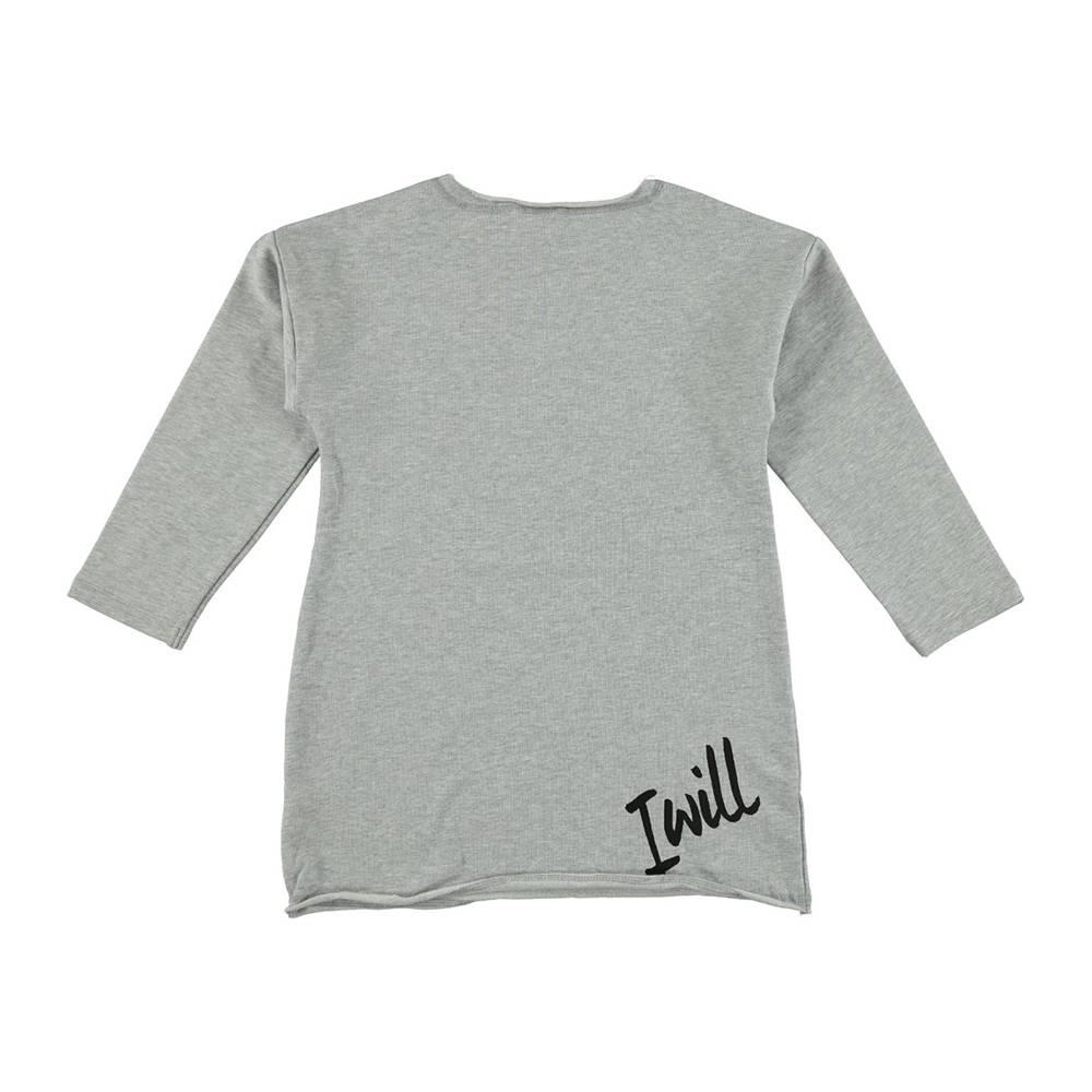 Туника для девочки iDO длинный рукав хлопок трикотаж аппликация 4.S567.00/8992