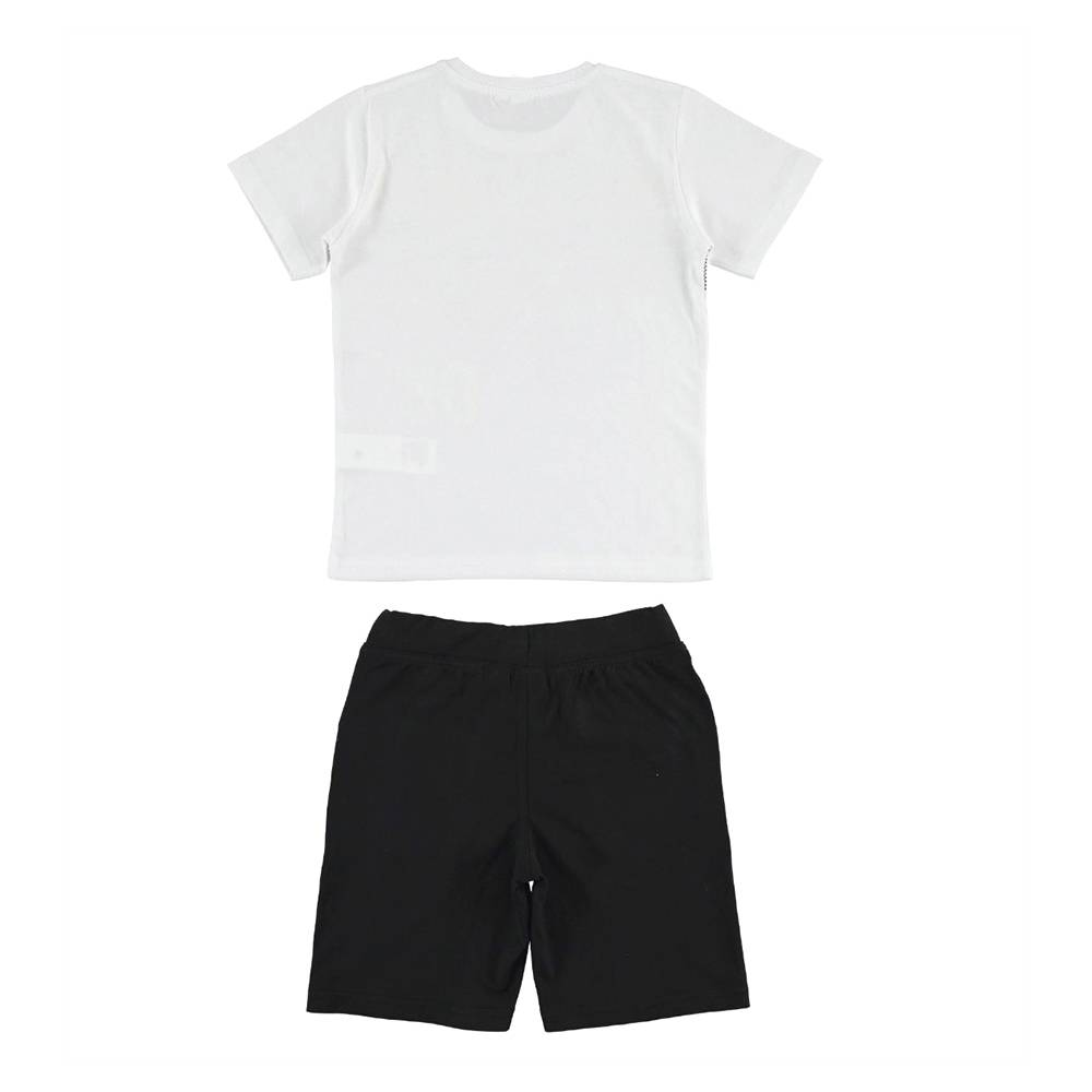 Комплект для мальчика iDO подростка спортивный летний футболка шорты принт 4.J018.00/8057