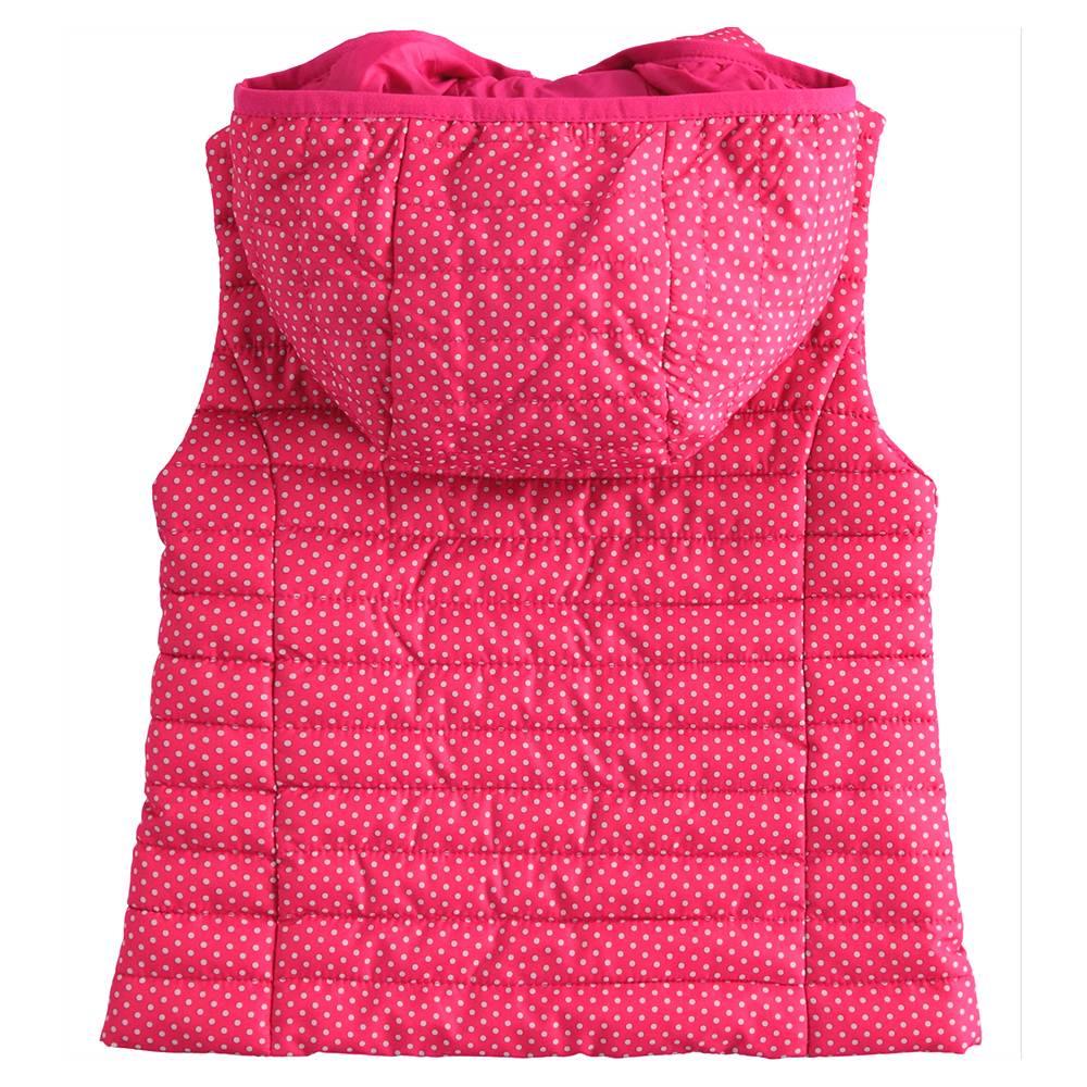 Жилет для девочки iDO демисезонный с капюшоном стеганный 4.J003.00/6LV6