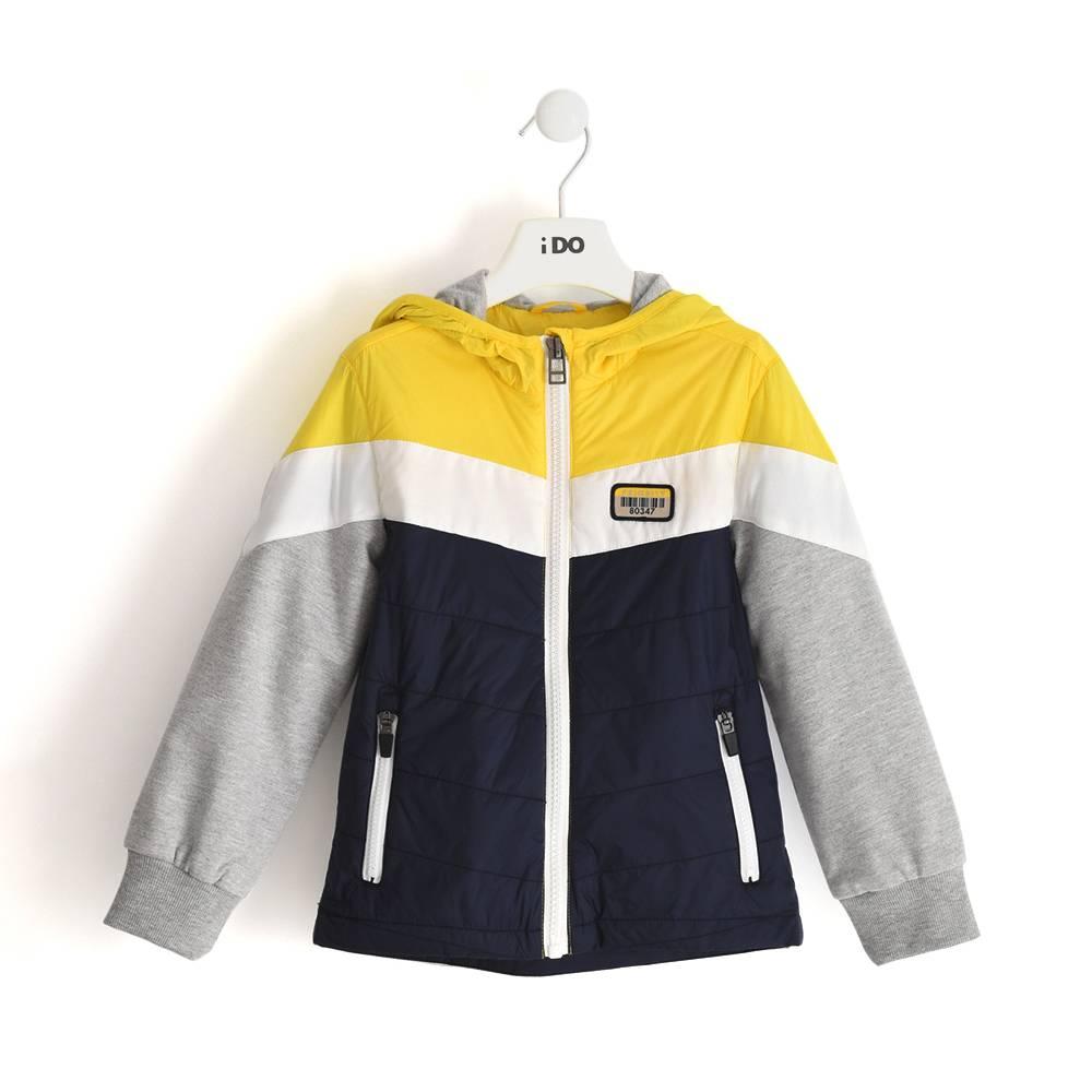 Куртка для мальчика iDO демисезонная ветровка с капюшоном 4.J464.00