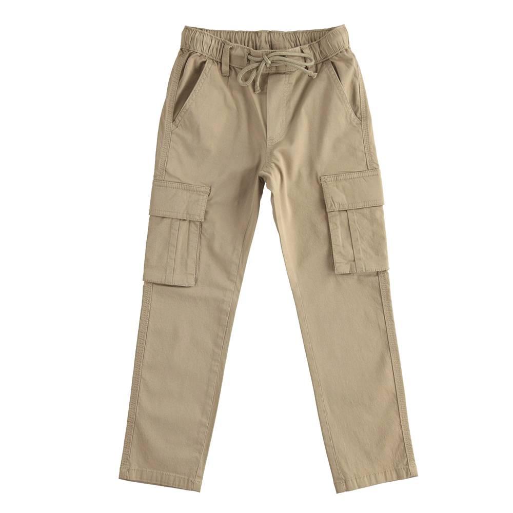 Брюки для мальчика IDO подросток карго коричневый 4.J424.87/0414