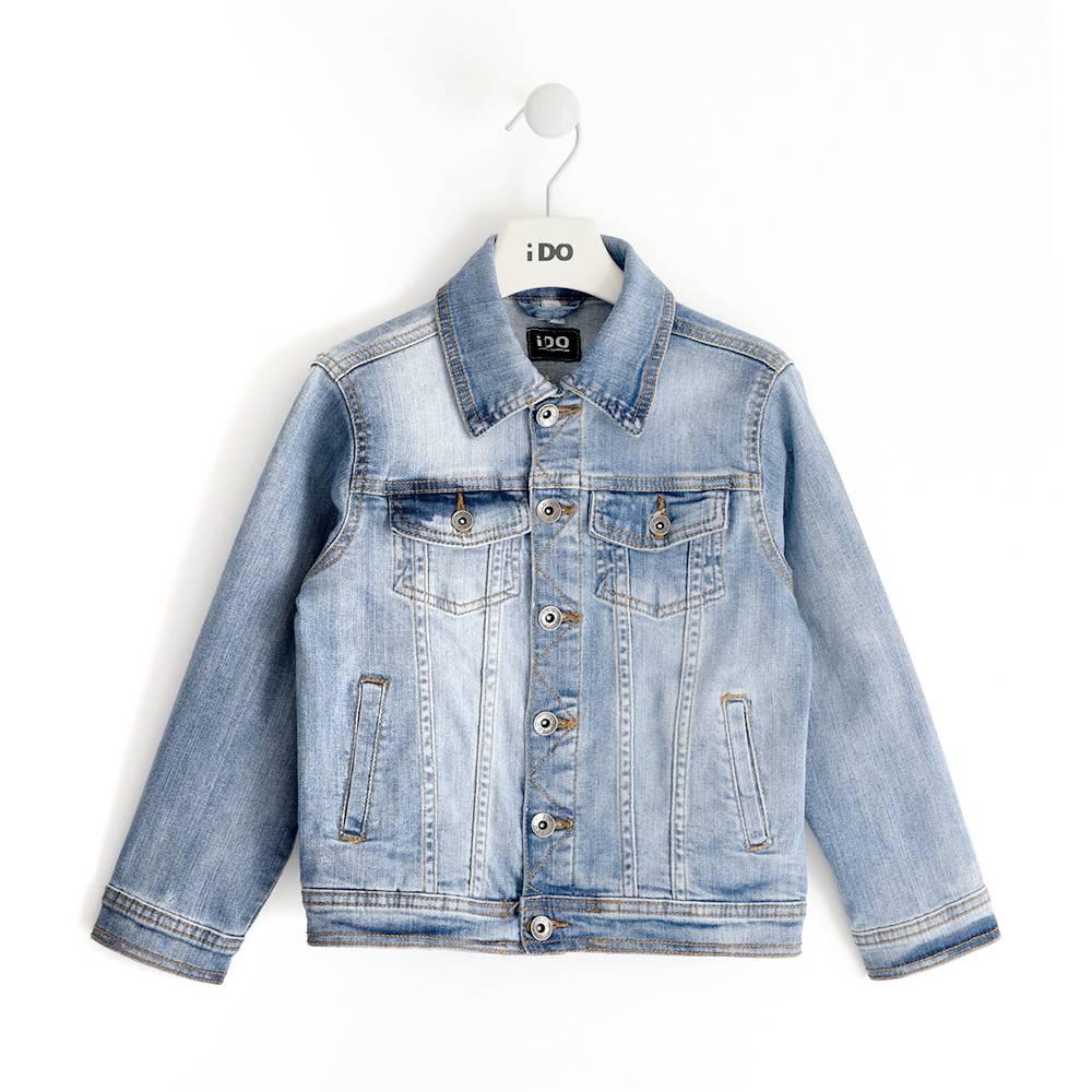 Куртка для мальчика iDO подростка джинсовая 4.J465.00/7180