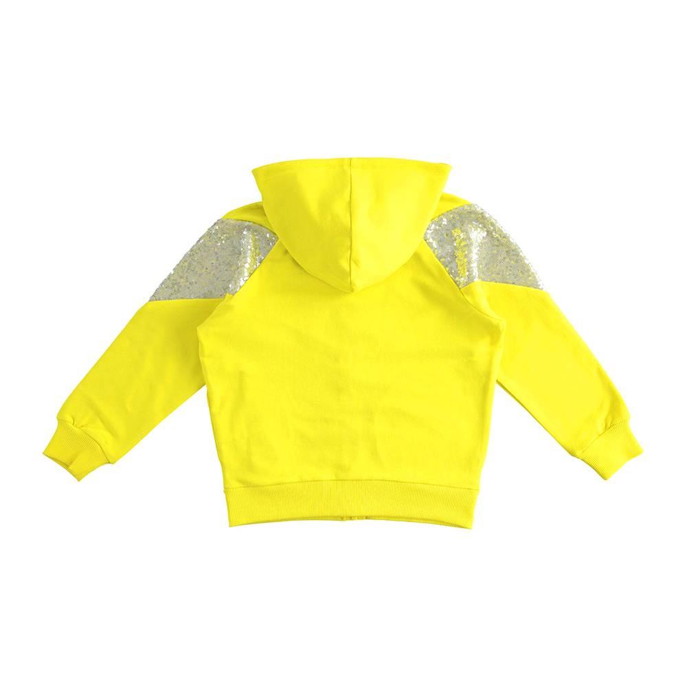 Толстовка для девочки iDO подросток трикотаж капюшон карманы украшена блестками 4.J504.00