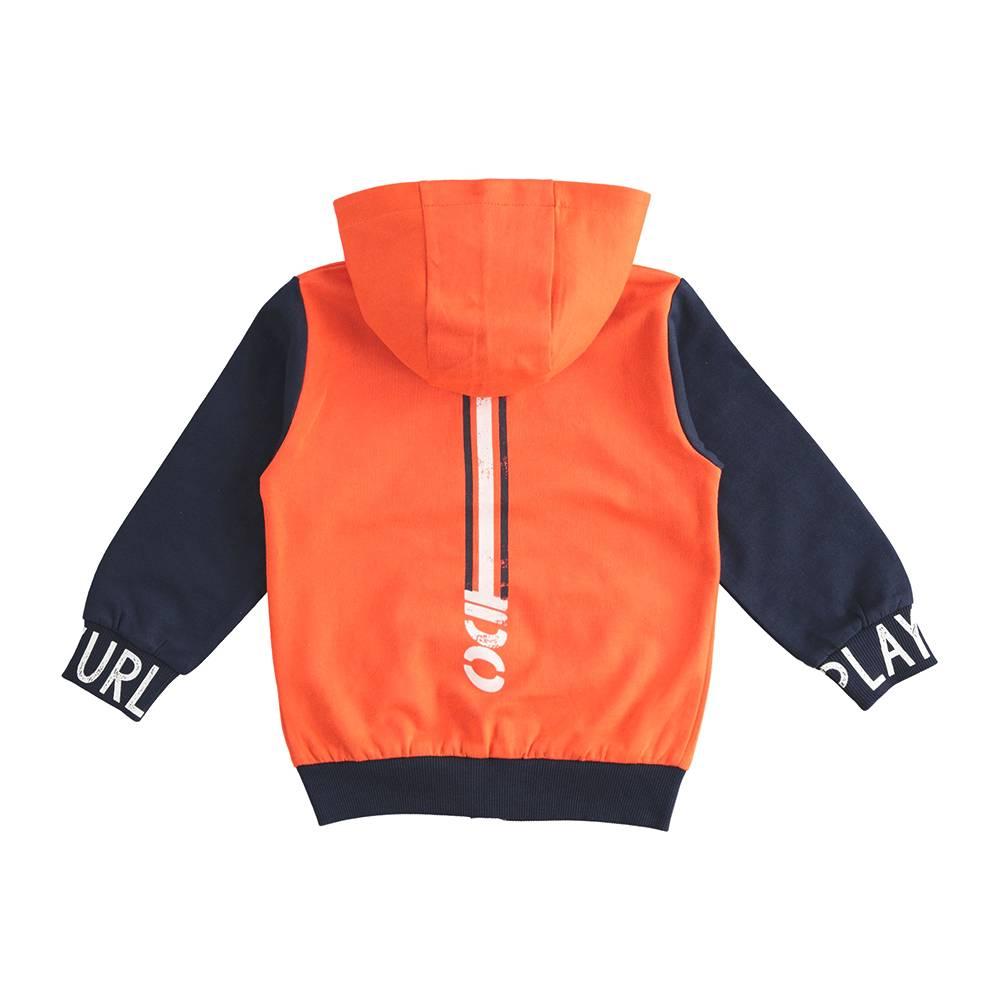Толстовка для мальчика iDO трикотаж капюшон карман кенгуру 4.J212.00/2213