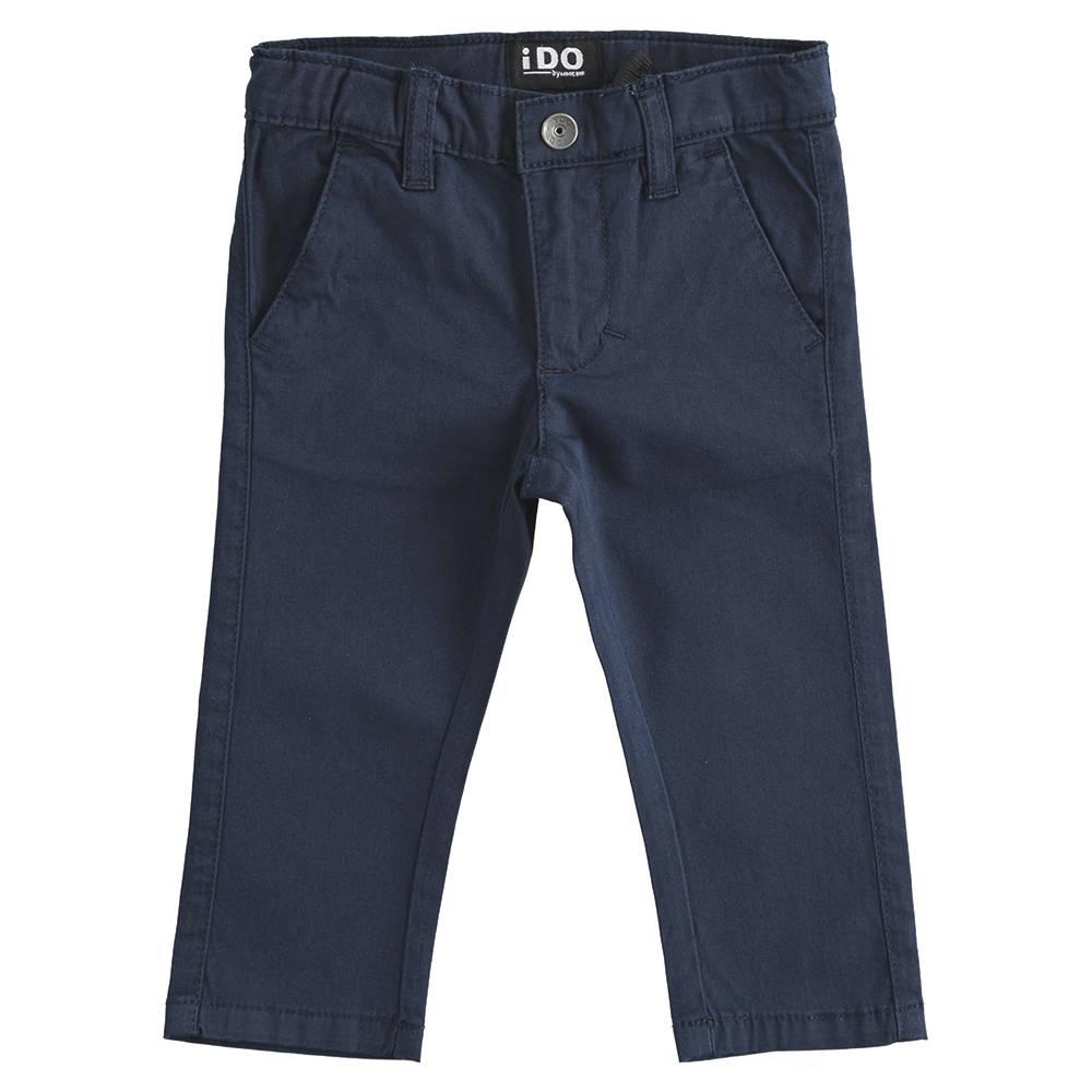 Брюки для мальчика iDO чиносы синий хлопок 4.J242.00/3885