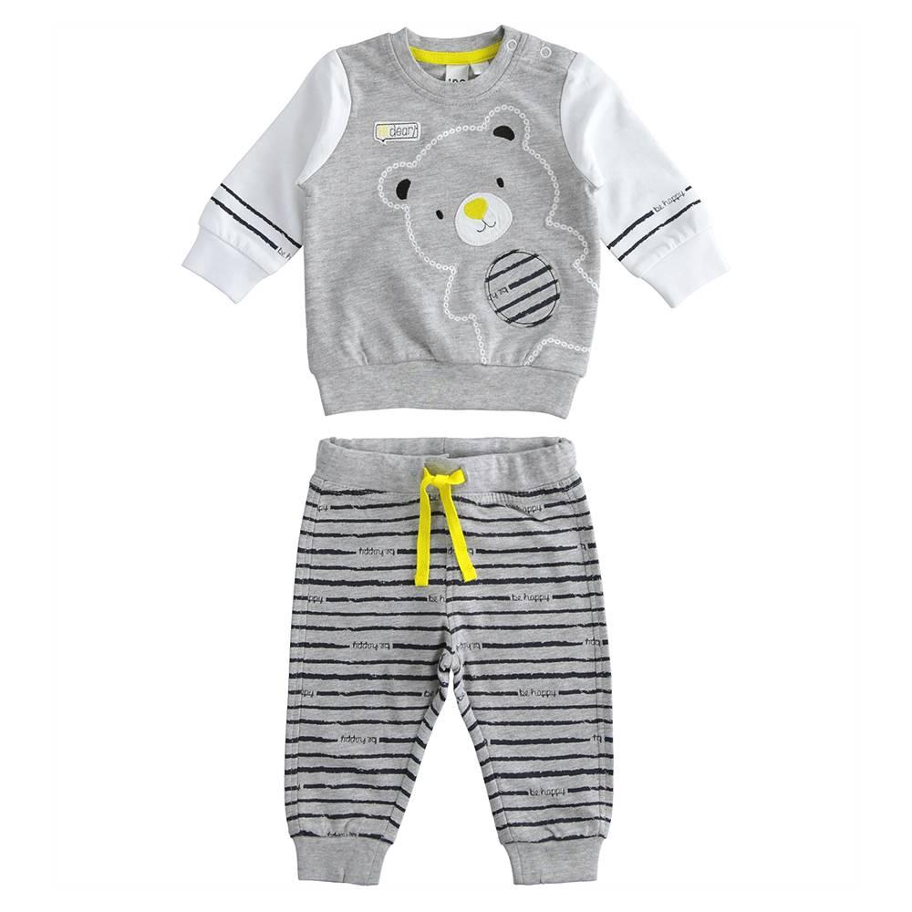 Комплект для мальчика iDO хлопок трикотаж вышитый мишка 4.J057.00/8992