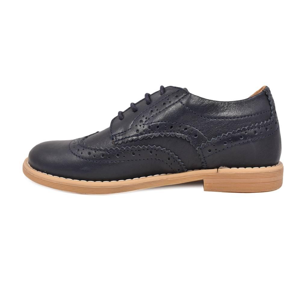 Туфли для мальчика Froddo классика на шнурках натуральная кожа G4130074/DarkBlue