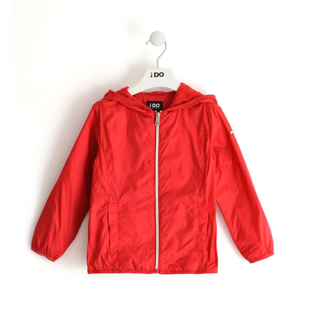 Куртка для девочки iDO демисезонная ветровка с капюшоном 4.J037.00