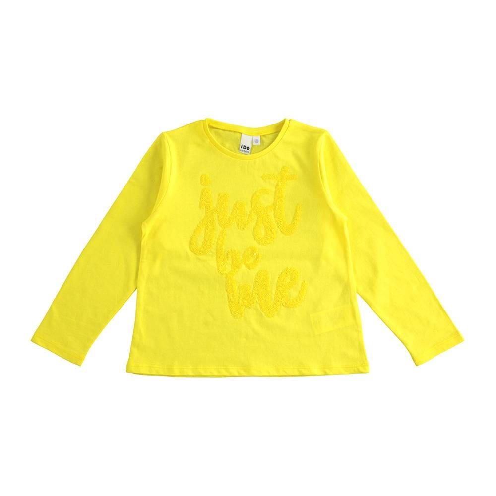 Реглан для девочки iDO подростка хлопок трикотаж вышивка блестками 4.J508.00