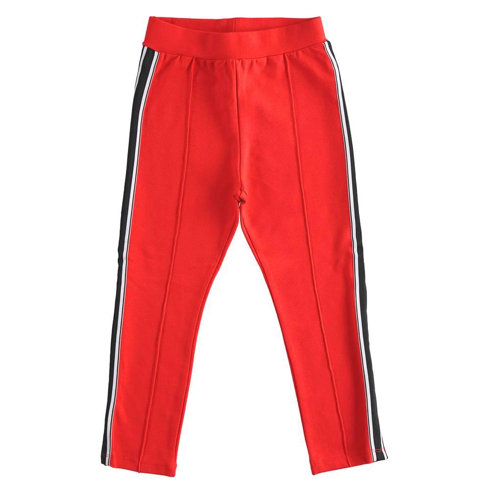 Штаны спортивные для девочки iDO эластичный трикотаж со стрелками 4.J527.00