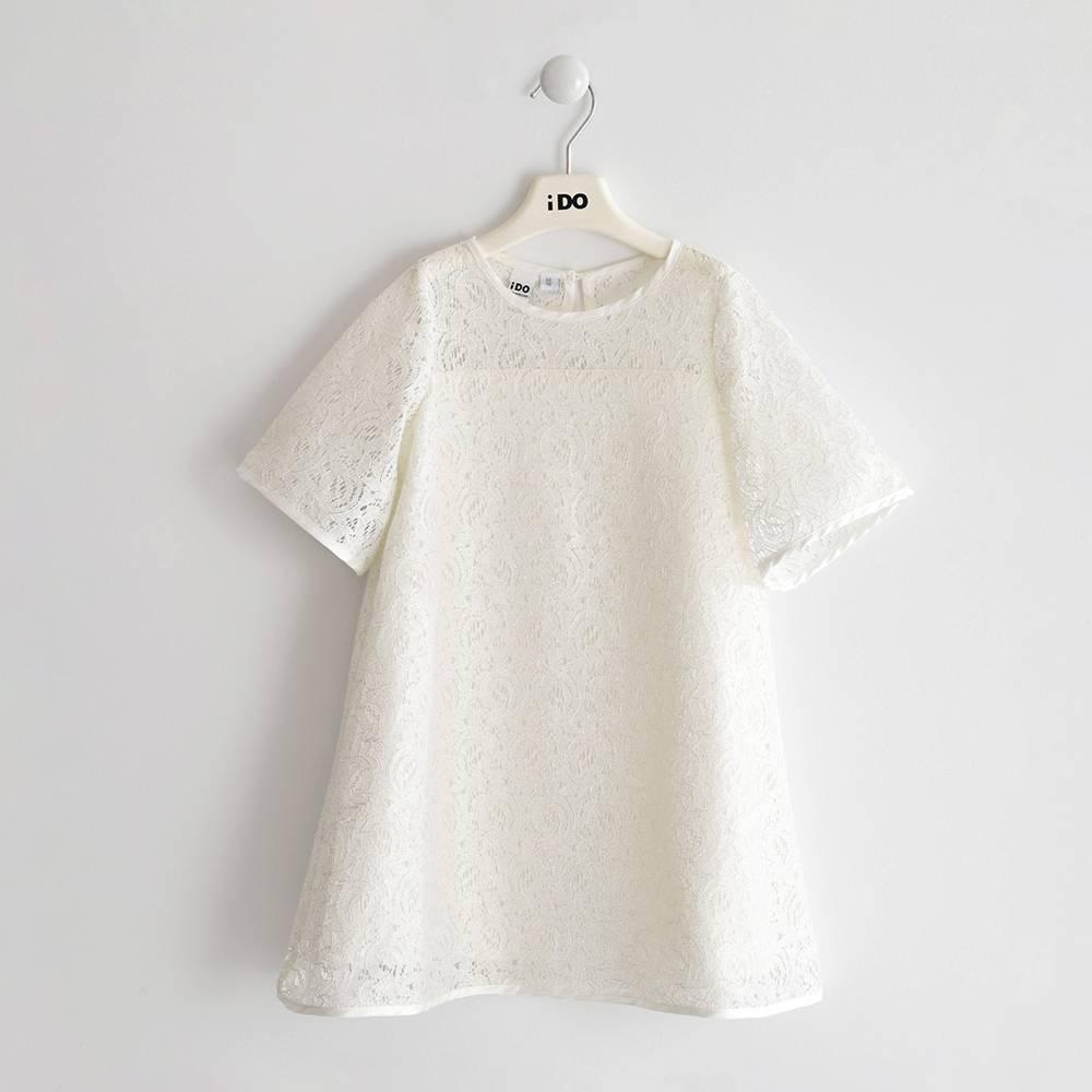 Платье для девочки iDO нарядное ажурное с люрексом 4.J542.00/0112