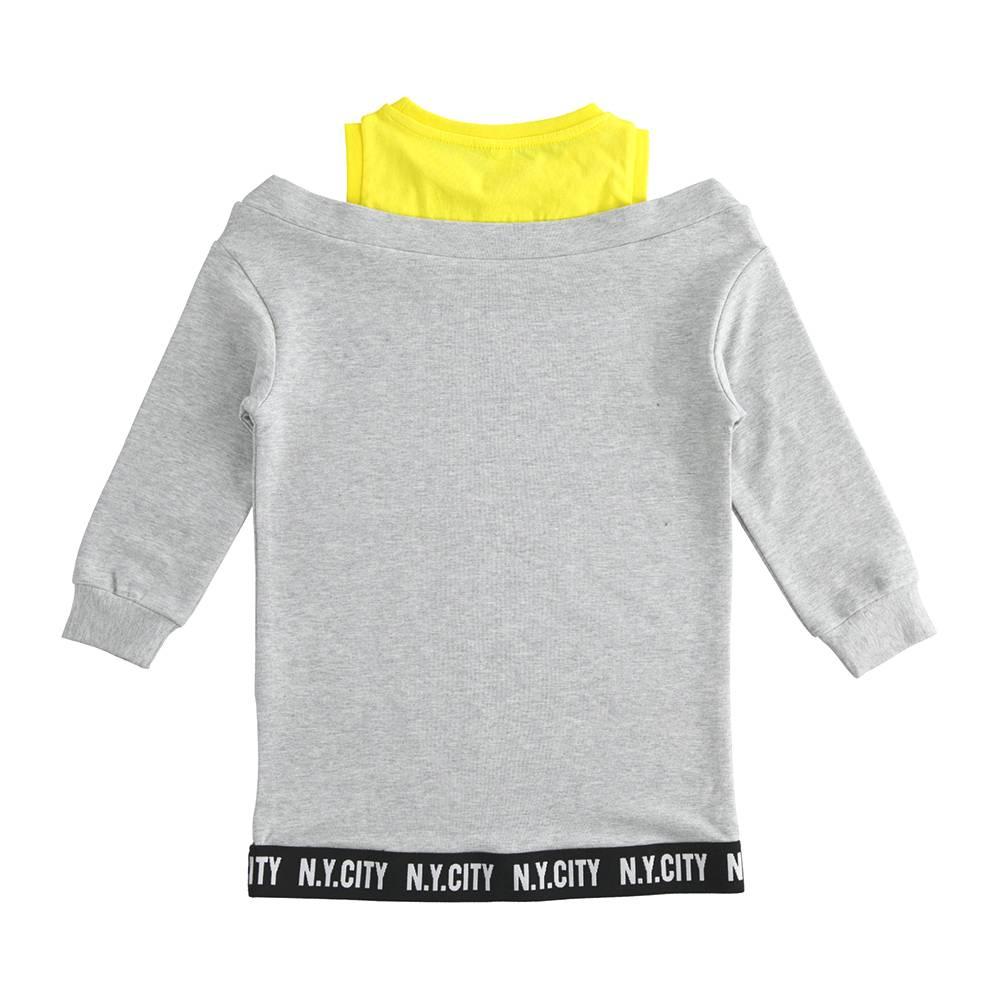 Платье для девочки iDO флис спортивное длинный рукав 4.J548.00/8992
