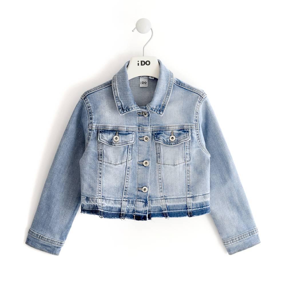 Куртка для девочки iDO подростка джинсовая 4.J556.00/7310/7A