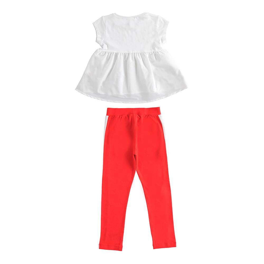 Костюм для девочки iDO комплект летний футболка и штаны 4.J563.00/8025