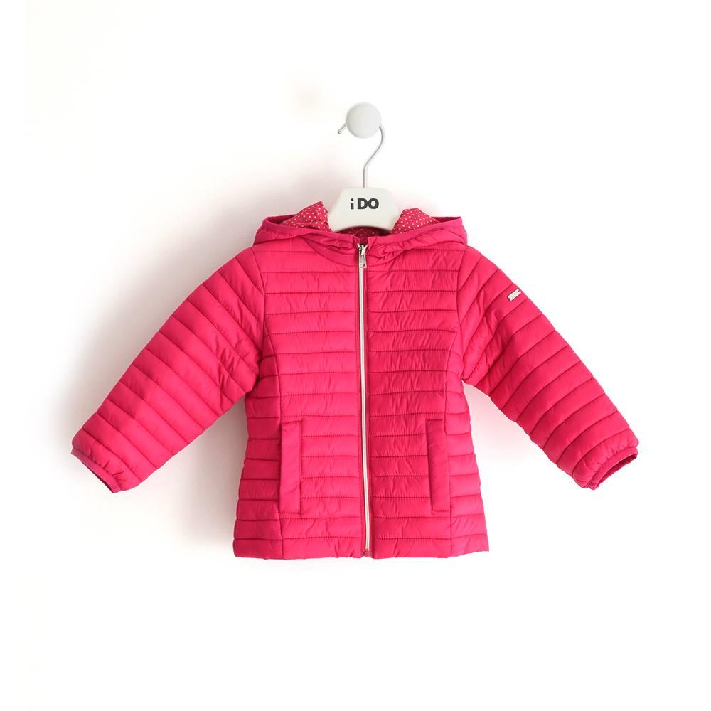 Куртка для девочки iDO демисезонная утепленная с капюшоном 4.J001.00
