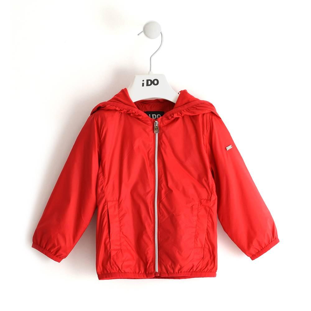 Куртка для девочки iDO демисезонная ветровка с капюшоном 4.J002.00/2256