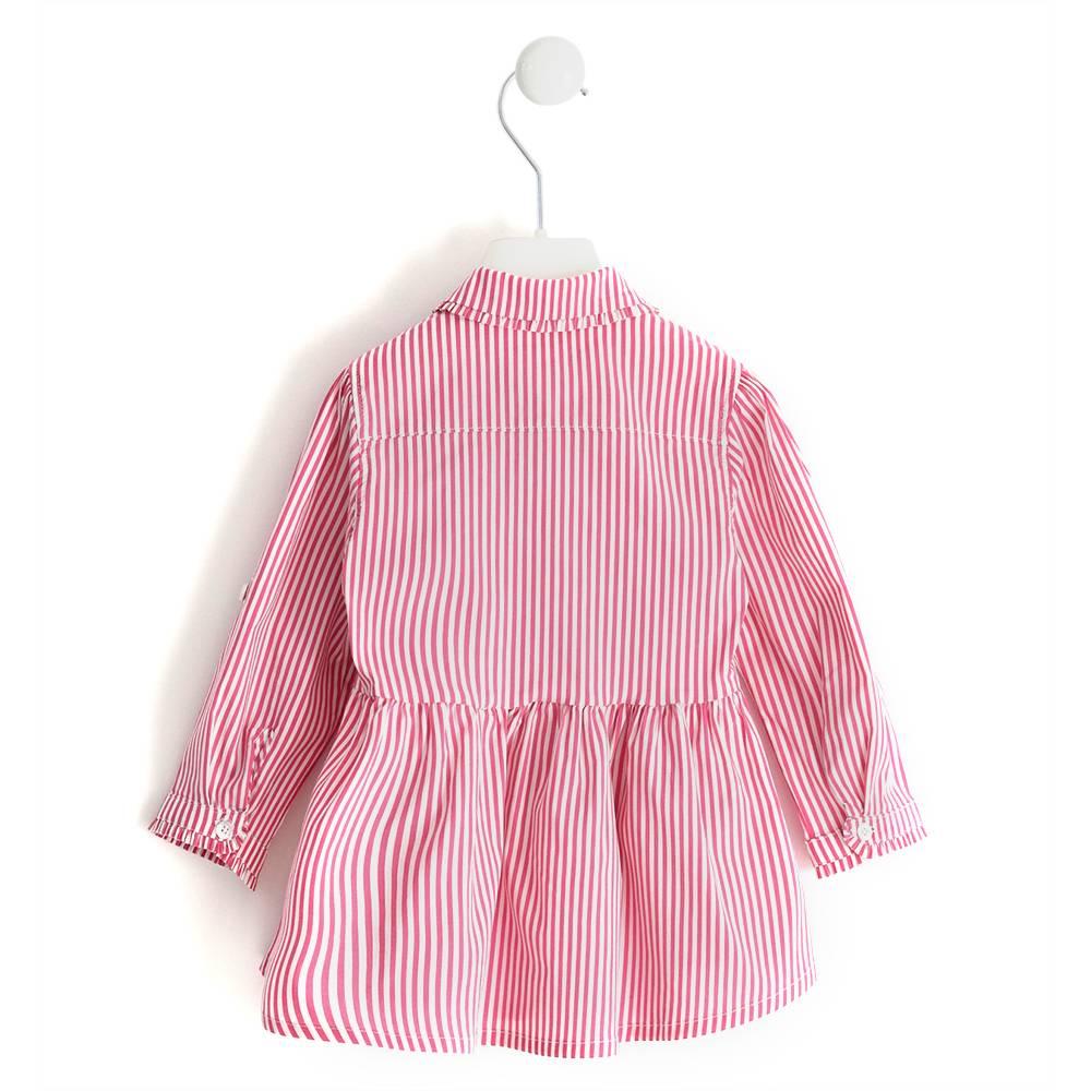 Рубашка для девочки iDO полосатая регулируемая длина рукава 4.J285.00/2445
