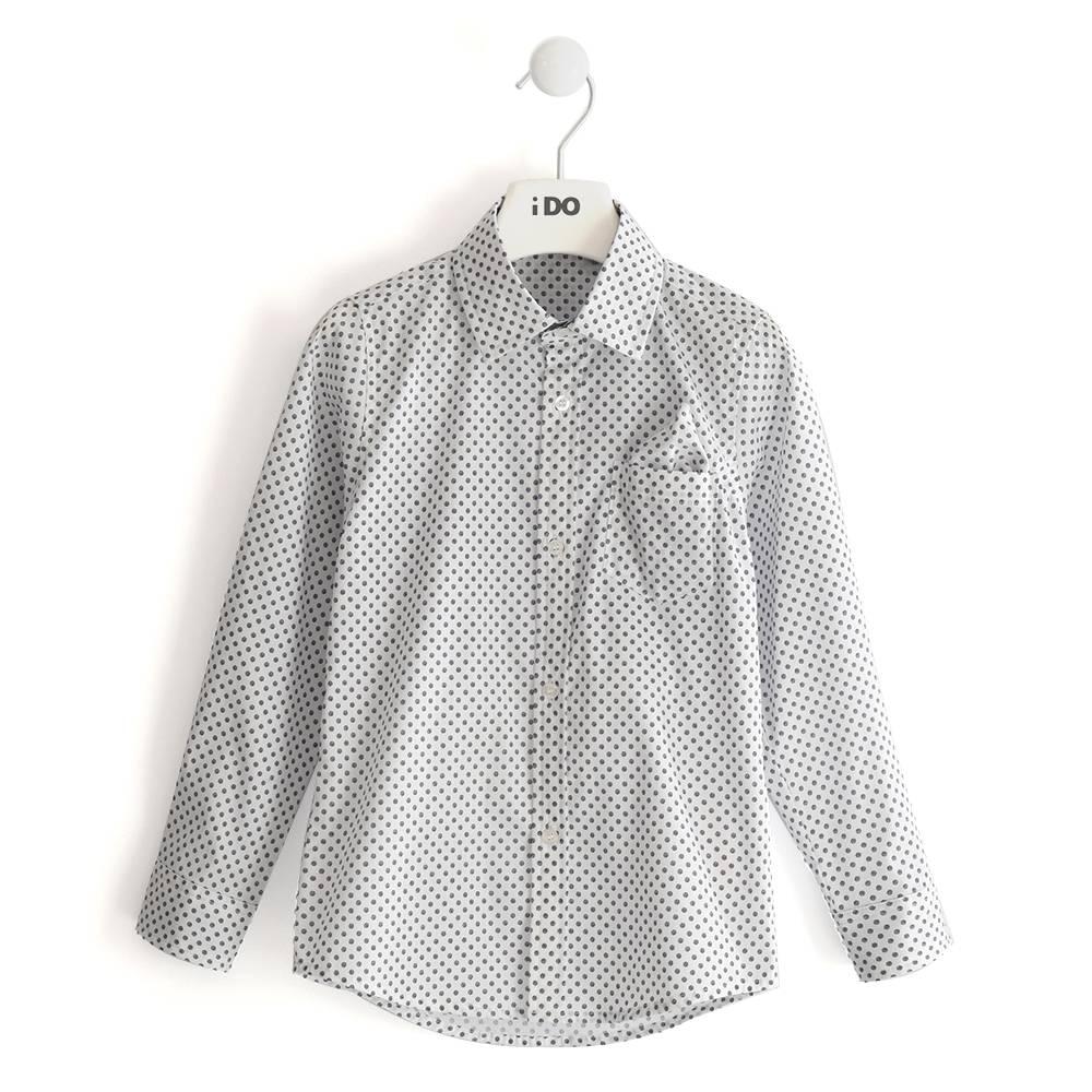 Рубашка для мальчика iDO поплин подроствый 4.J380.00/6MC5