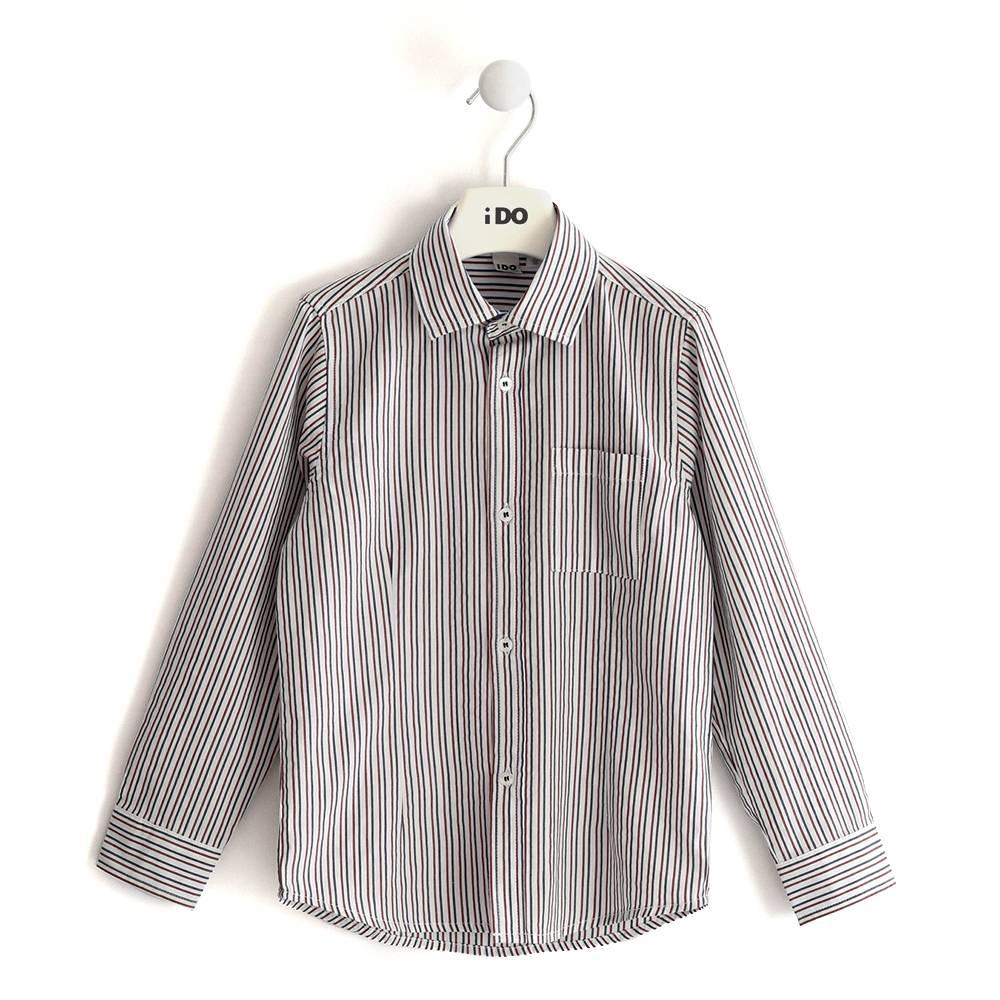 Рубашка для мальчика iDO полосатый хлопок подростковый 4.J383.00/2256
