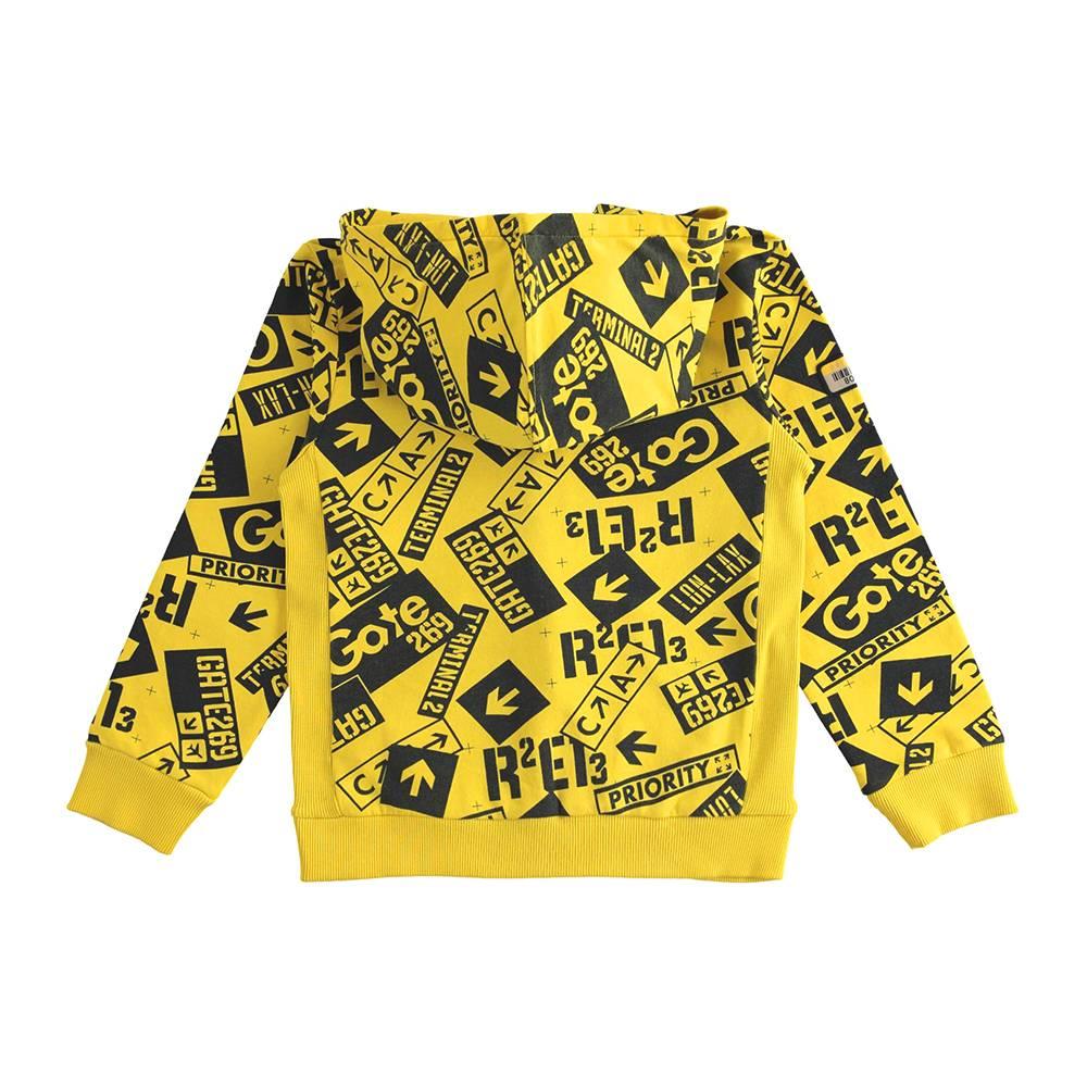 Толстовка для мальчика iDO подросток трикотаж капюшон карман кенгуру 4.J396.00/6MD4
