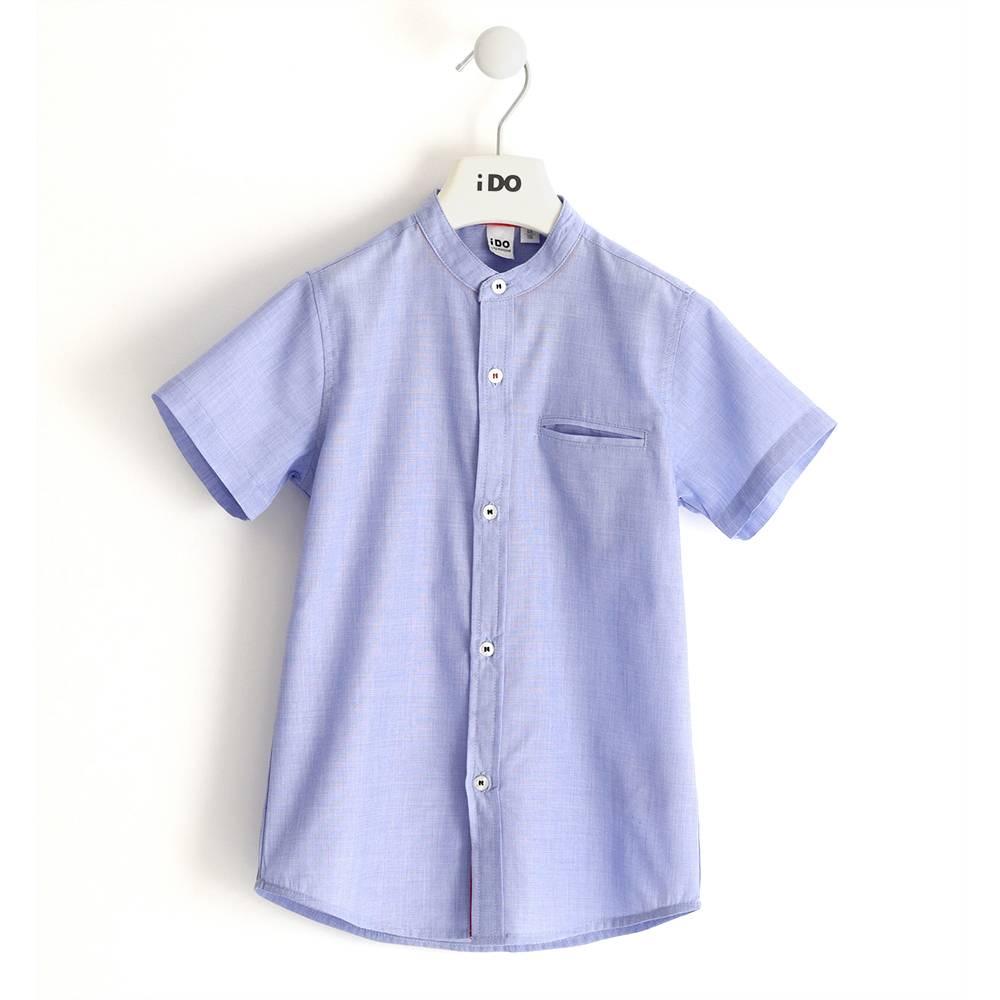 Рубашка для мальчика iDO классическая летняя короткий рукав 4.J450.00/3621