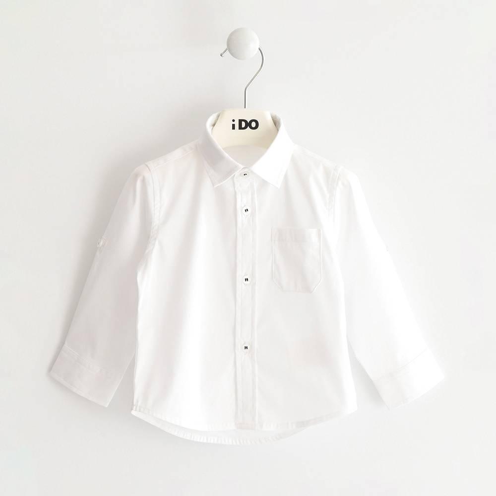 Рубашка для мальчика iDO хлопок поплин 4.J204.00/0113